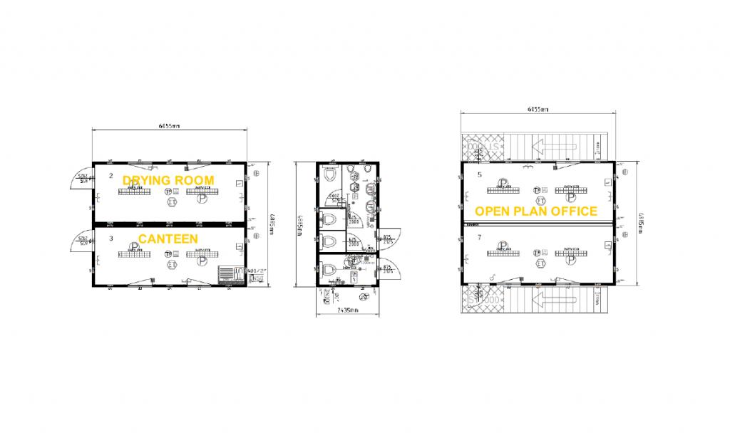 modular building 10–20 person